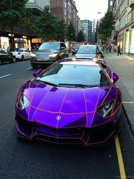 Chrome Purple Lamborghini Aventador By LB-Performance